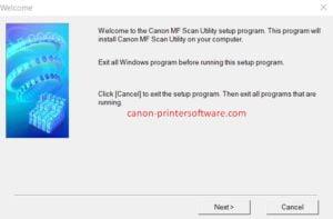 Canon MF Scan Utility