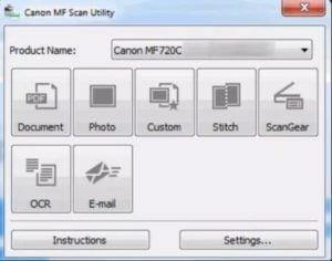 Canon MF Printer Driver Utilities