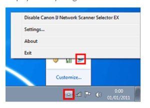 IJ Network Scanner Selector EX